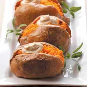 Dolloped Sweet Potatoes Recipe