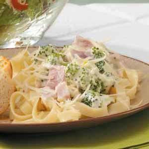 Quick and Creamy Ham Fettuccini Recipe