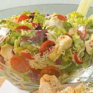 Artichoke-Pepperoni Tossed Salad Recipe