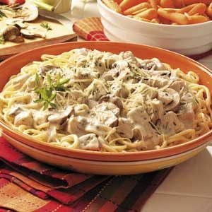 Turkey Portobello Pasta Recipe