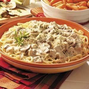 Turkey Portobello Pasta Recipe