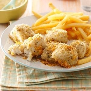 Oven-Fried Fish Nuggets Recipe