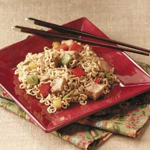 Ramen Pork 'n' Peppers Recipe