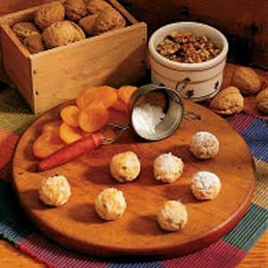 Apricot Walnut Balls Recipe