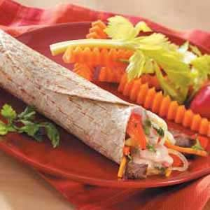 Steak Veggie Wraps Recipe