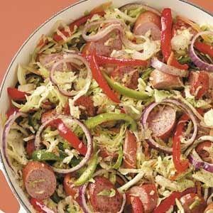 Cabbage Kielbasa Skillet Recipe