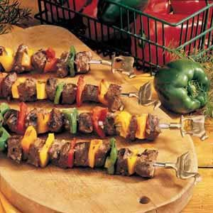 Beef and Pepper Kabobs Recipe