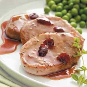 Cranberry-Mustard Pork Medallions Recipe