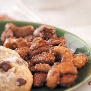 Caramel-Coated Spiced Nuts