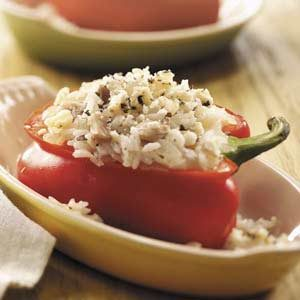 Rice-Stuffed Red Pepper Recipe