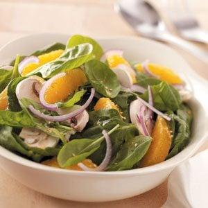 Orange Lime Spinach Salad