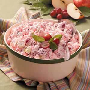 Creamy Cranberry Apple Salad Recipe