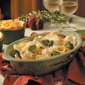 Broccoli Chicken Fettuccine Recipe