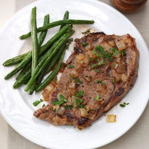 Saucy Skillet Steaks Recipe