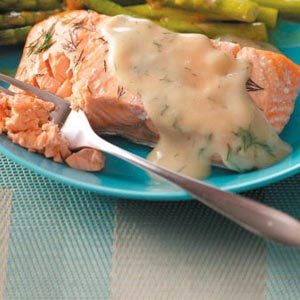 Moist Salmon with Dill Sauce Recipe