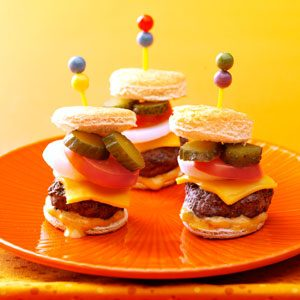 Mini Burgers with the Works Recipe