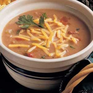Southwestern Refried Bean Soup Recipe