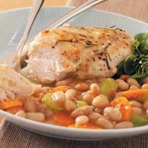 Rosemary Chicken with White Beans