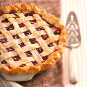 Cranberry-Cherry Lattice Pie Recipe