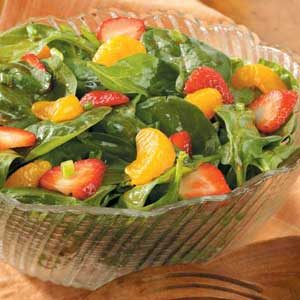 Spinach Salad with Red Currant Dressing