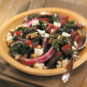 Swiss Chard with Beets Recipe