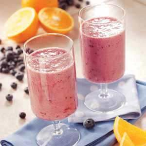 Blueberry Orange Smoothies Recipe
