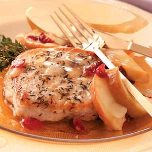 Apple-Cherry Pork Chops Recipe