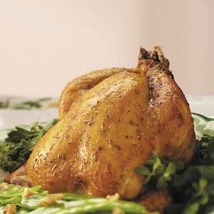 Dressed-Up Cornish Hen Recipe