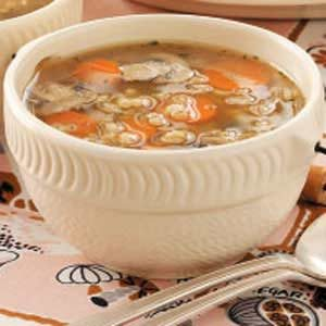 Mushroom Barley Soup for Two Recipe