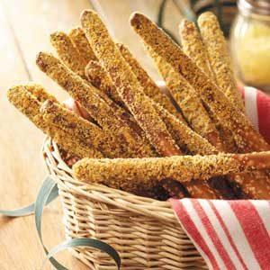 Parmesan Pretzel Rods Recipe