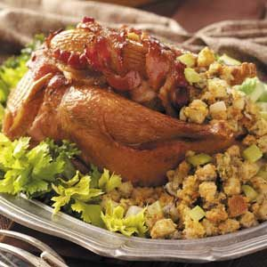 Roasted Pheasants with Oyster Stuffing Recipe