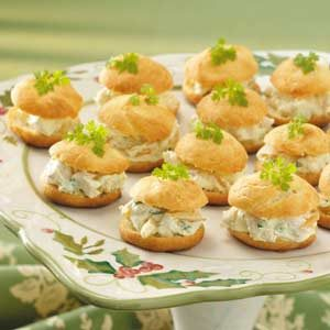 Curried Chicken Cream Puffs Recipe