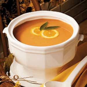 Herbed Golden Squash Soup Recipe