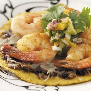 Shrimp Tostadas with Avocado Salsa Recipe | Taste of Home