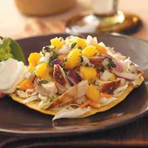 Chicken Tostadas with Mango Salsa Recipe