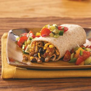 Turkey Burritos with Fresh Fruit Salsa