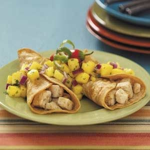 Chicken Tacos with Pineapple Pico de Gallo Recipe