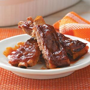 Barbecued Sticky Ribs Recipe