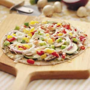 Pepperoni Veggie Pizzas Recipe