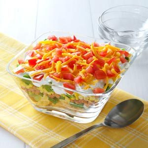 Corn Bread Layered Salad Recipe