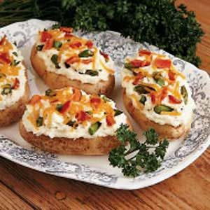 Asparagus-Stuffed Potatoes Recipe