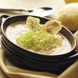 Dilled Potato-Leek Soup Recipe