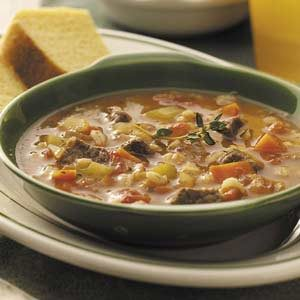 Beef Barley Soup with Veggies Recipe