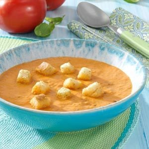 Chunky Tomato-Basil Bisque Recipe