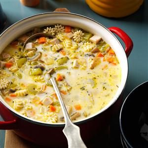 Creamy Vegetable Turkey Soup