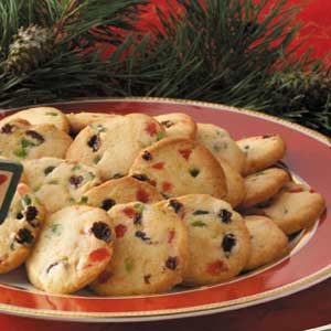 Slice 'n' Bake Fruitcake Cookies