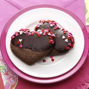 Chocolate-Mint Hearts Recipe