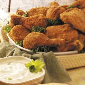 Picnic Chicken with Yogurt Dip Recipe