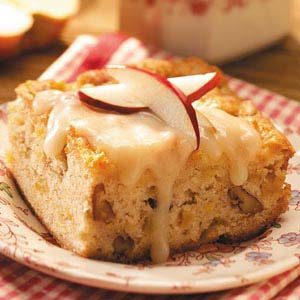 Apple Nut Cake with Rum Sauce Recipe