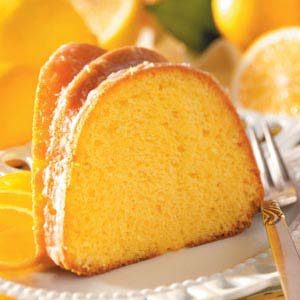 Glazed Lemon Flute Cake Recipe
